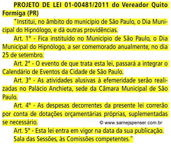IMAGEM: Reprodução do Projeto de Lei 01-00481/2011