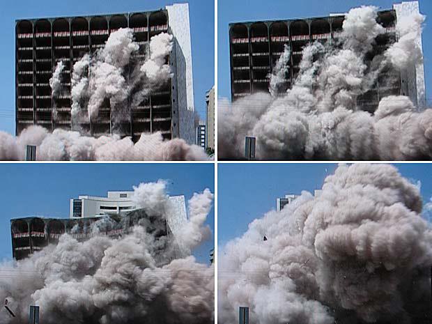 IMAGEM: Prédio em demolição